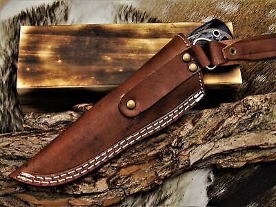 Atención coleccionista damascos-cuchillo de caza y bonito increíblemente suenan veteado