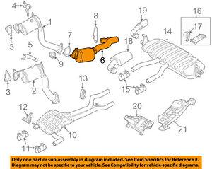 vw volkswagen oem 11 15 touareg 3 0l v6 exhaust system exhaust pipe rh ebay com 2007 vw rabbit exhaust diagram vw polo exhaust diagram