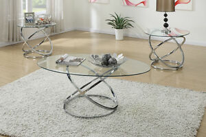 Poundex Furniture F3087 3 Pc Occasional Table Set Ebay