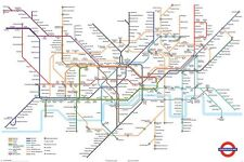 The London Underground Tube Map Maxi Poster 91.5 x 61cm - Transport for London