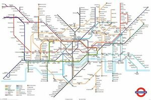 Transport For London Map.Details About The London Underground Tube Map Maxi Poster 91 5 X 61cm Transport For London