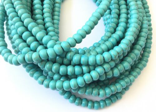 Fine genuine Rondelle Turquoise Gemstone beads Gemstone Beads-Jewelry Supplies