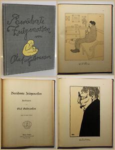 Gulbransson-Beruehmte-Zeitgenossen-1905-Karikaturen-Kunst-Erstausgabe-Kultur-sf