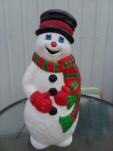 #B Snowman Frosty Christmas Blow Mold Light Yard Decor ...