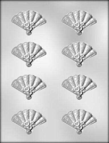 Decorated Fans Chocolate Candy Mold from CK #13701