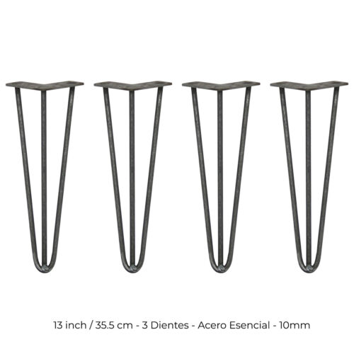 4 prong fork skiski table steel legs natural 35,5cm 3 teeth 10mm