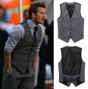 Fashion Men's Casual Suit Vest Slim Dress Formal Waistcoat ...