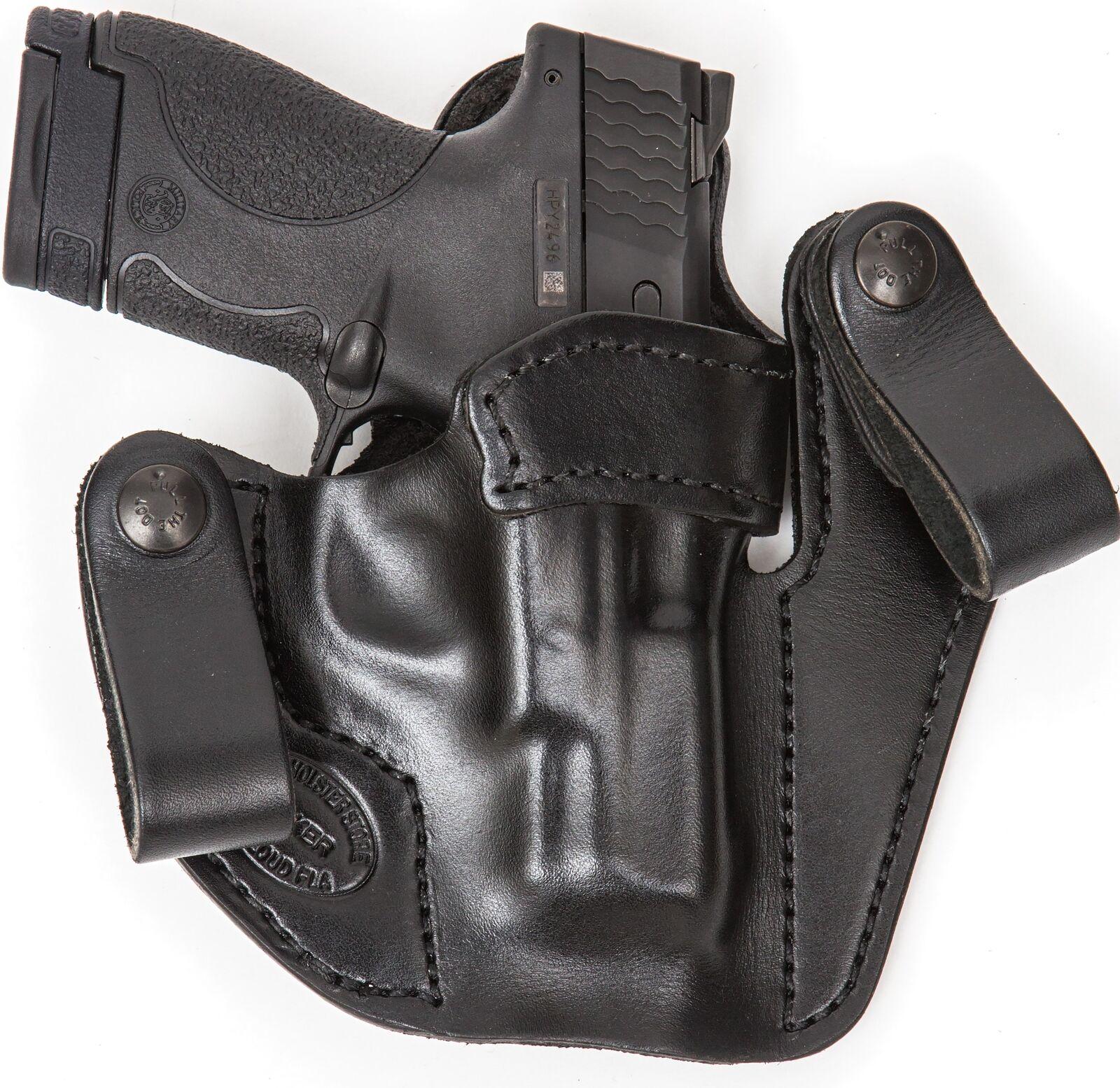 XTREME llevar RH LH dentro de la cintura de cuero Funda Pistola Para Glock 43 con laserguard Compacto