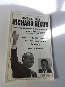 Nixon Presidential Campaign Flyer 9 5 1968 With Ronald