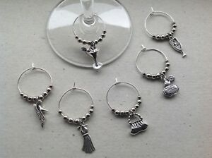Details about Handmade Set of 681012 Wine Glass Charms, Girlie Theme, Birthday, Hen party.