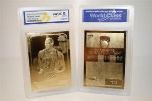 PATRICK EWING 1986-87 Fleer ROOKIE 23KT Gold Card Sculptured Graded GEM MINT 10