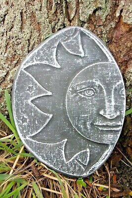 """Sun face mold plastic concrete plaster mould 14/"""" x up to 1.5/"""" thick"""