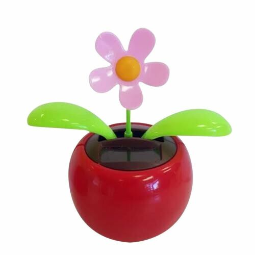 8 pk Cute Solar Power Flip Flap Flower Insect For Car Decoration Swing Dancing