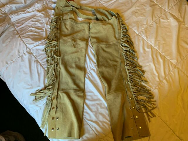 Leather Bull Riding Cowboy Horse Riding Chaps Size 34 Never Worn