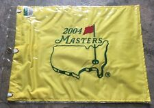 NEW 2004 Masters Flag Embroidered Phil 1st Augusta National Golf Pin Flag READ