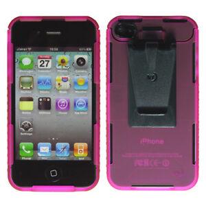 Nite-Ize-Connect-Case-For-Iphone-4-4S-Duurzame-Beschermende-Holder-Pink-Transluc