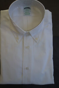 NWOT-Brooks-Brothers-White-Oxford-Button-Down-Milano-Fit-Several-Sizes-MSRP-140