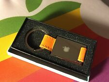 RARE OOP NEW BOXED! APPLE COMPUTER INC EMPLOYEE STORE LOGO ORANGE KEY CHAIN FOB