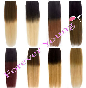 Image Is Loading Premium Clip In Dip Dye Ombre Remy Human