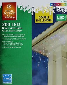 Christmas Home Accents Holiday 200 Multi Dome Icicle ...