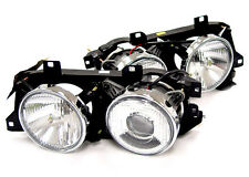 88-96 BMW E32 E34 5 7 Series Euro Smiley Ellipsoid Projector Glass Headlight