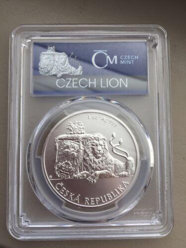 First Strike Coin 2017 Niue 1 oz Silver Czech Lion MS-70 PCGS
