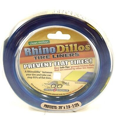RhinoDillos Anti Flat//Puncture Protection Bicycle Tire Liner 26 x 2.0-2.125