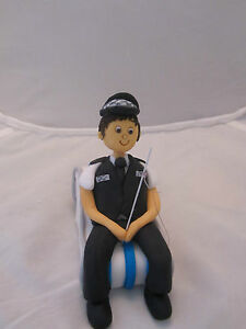 Image Is Loading Policeman Fishing Edible Hand Made Figure Birthday Cake