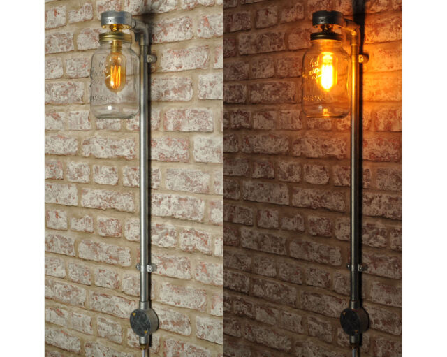Coppin Plug In Wall Light Lamp Retro Style Vintage Kilner Jar Ce Mark
