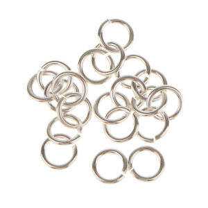 20x 925 Sterling Silver Open Split Rings Jump Rings Connector Jewelry 5mm