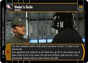 Star Wars TCG ROTJ Vader/'s Guile