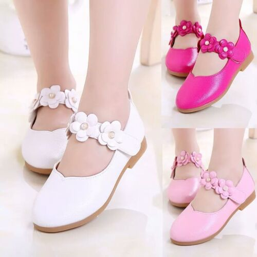 Fashion Girl Princess Shoes for Kids Flats Baby Toddler Dance Wedding Shoes Size