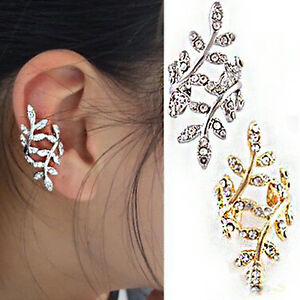 Image Is Loading No Piercing Ear Leaf Vine Pin Wrap Punk