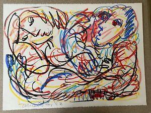 Rick-McCarthy-Original-Oil-Pastel-Signed-Art-Picasso-School
