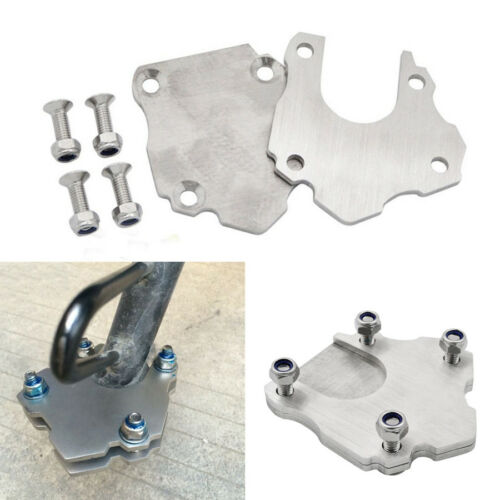 Universal Stainless Steel Motorcycle Kickstand Shoe Side Stand Extension Plate