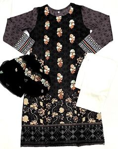 fully stitched KHAADI LAWN Pakistani designer wear shalwar kame ready 2 wear