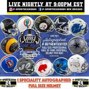 2020-GOLD-RUSH-AUTOGRAPHED-FULL-SIZE-FOOTBALL-NFL-HELMET-LIVE-BOX-BREAK-3727