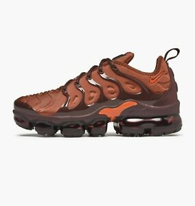 more photos a3d47 142d3 Details about Womens Nike Air Vapormax Plus Trainers Shoes Orange Red Black  AO4550 201