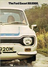 Ford Escort RS 2000 Mk1 1973-74 plegable de mercado del Reino Unido Folleto de ventas