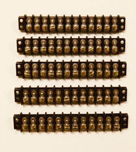 NOS. CINCH TERMINAL STRIP CONNECTORS 12 POSITION Box of 5 ~ TRW 12 140 Y