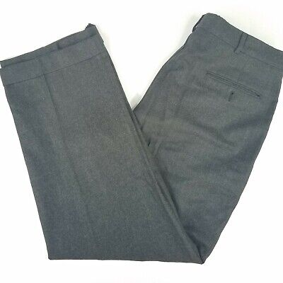 Vtg Polo Ralph Lauren Charcoal Gray Flannel Wool Pleated