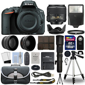 Nikon-D5500-DSLR-Camera-4-Lens-18-55mm-VR-II-500mm-16GB-Telephoto-Kit