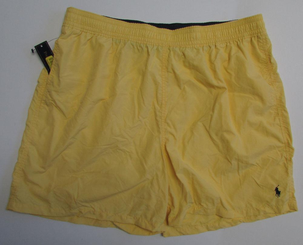 NWT Polo Ralph Lauren Swim Shorts Yellow  Nylon  BIG Sizes 1XB  2XB