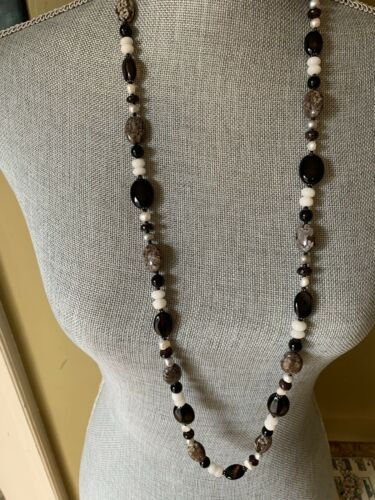 Handmade Beaded Silver Link Bracelet with Rhinestones Faux Pearls and Glass Beads with a Triple Charm Detail