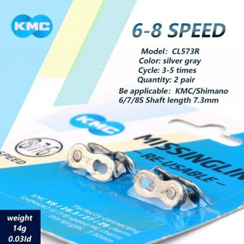 2 Pairs KMC Bicycle Chain Missing Link 6//12 Speed Reusable Chain Magic Clasp