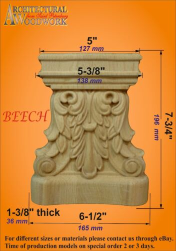 Hand Carved Solid Wood Capital