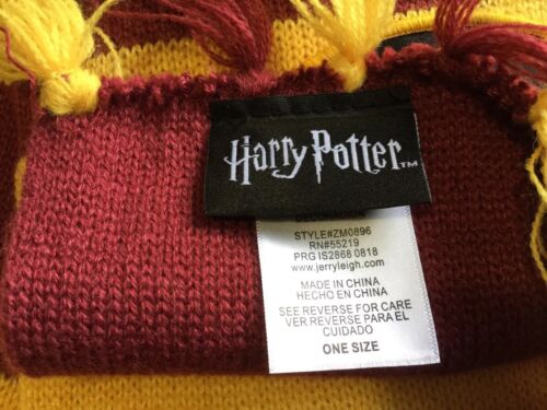 Official Harry Potter Hogwarts Knit Hat and Scarf Set Beanie Unisex One Size