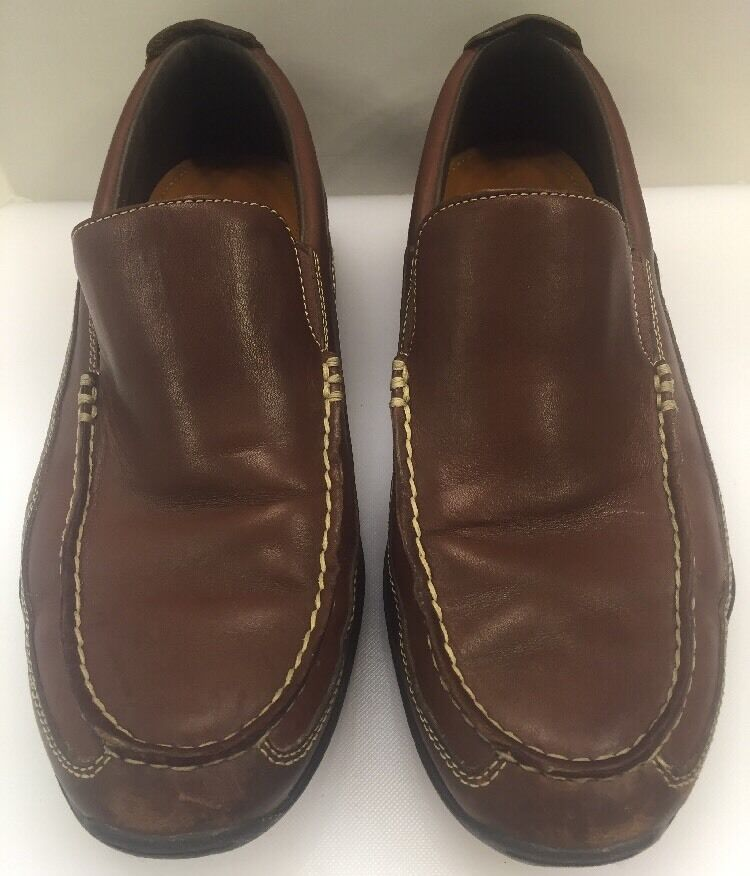 Cole Haan Men 9.5 Air Hughes Venetian I Brown Leather Slip On Loafer C08038