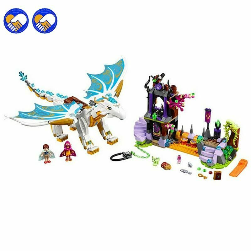 Building Bricks Blocks  The Queen Dragon's Rescue 841 pcs Educational  Toys