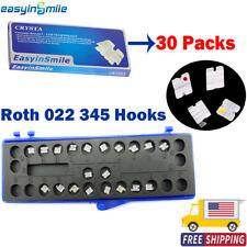 New Listing30 Packs Easyinsmile Orthodontic Ceramic Brackets Mini Braces Roth 022 345 Hooks